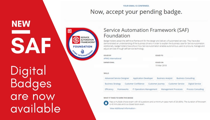 Now Available – Digital Badges for your Service Automation Exam
