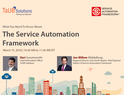 TaUB hosts webinar on Service Automation