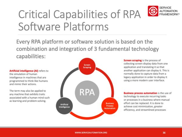 Critical Capabilities of RPA | Service Automation and RPA